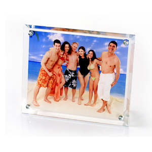 "16""Bevel Crystal Photo Frame with Four Holes BL13"