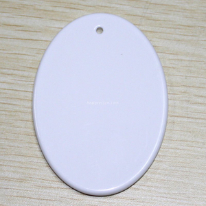 Ellipse Shape Sublimation Ceramic Pendent With Rope CP-E