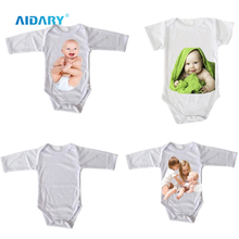 AIDARY Customized Logo Printing Sublimation Blank Short Sleeve Infants Baby Cloth , Baby Suit