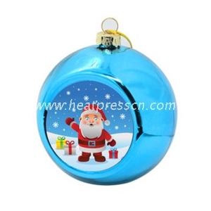 Colorful Sublimation Plastic Christmas Ball