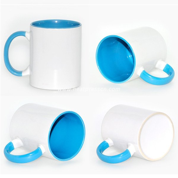 11oz Top Grade Inner And Handle Colorful Sublimation Blank Mug ICHAA