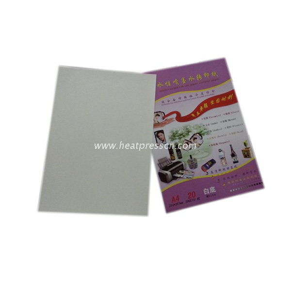 White Based Water Transfer Paper for Laser Printer WL