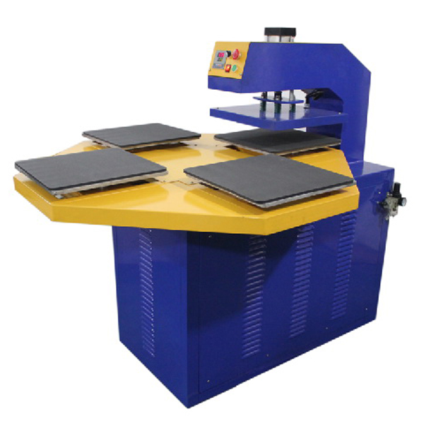 Four Working Tables High Efficient Printing Pneumatic Automatic Heat Press Machine B5-4