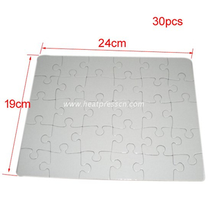 "30pcs 7.5 x 9.5"" Cardboard Sublimation Puzzle P28"