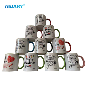 AIDARY Sublimation Two Tones Handle And Inner Colouful Mug