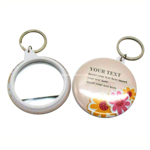 Mirror Key Chain Badge Pin