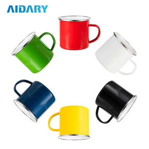 Wholesale 12oz 360ml SGS Quality Approved Sublimation Mugs Extra Glossy Colored Enamel Mug Mint Green