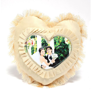 Sublimation European Style Beige Heart Shape Pillowcase PL23