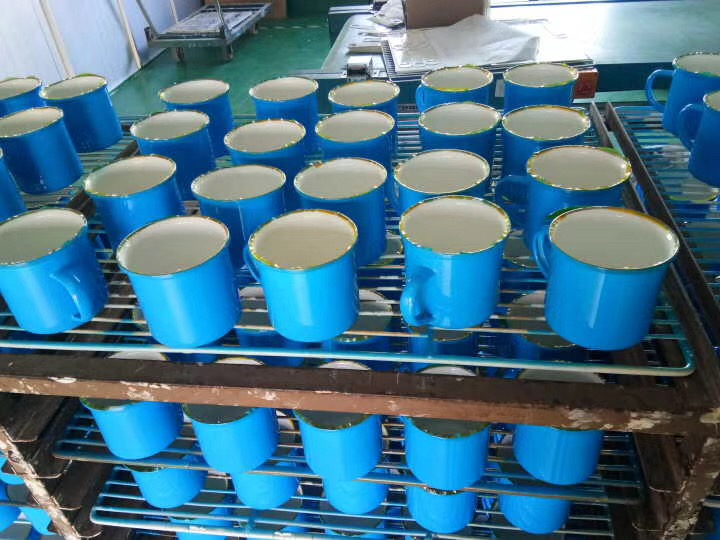 Sublimation Colorful Stainless Steel Enamel Mug (2)