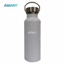 AIDARY Sublimation Single layer stainless steel bottle sports bottle 500ml 750ml 1000ml water cup