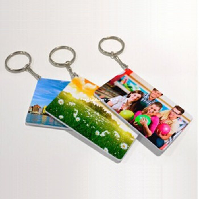 Rectangle Plastic Key Ring for Sublimation