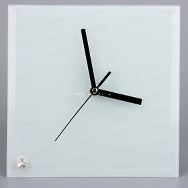 Sublimation Glass Square Smooth Clock BL26
